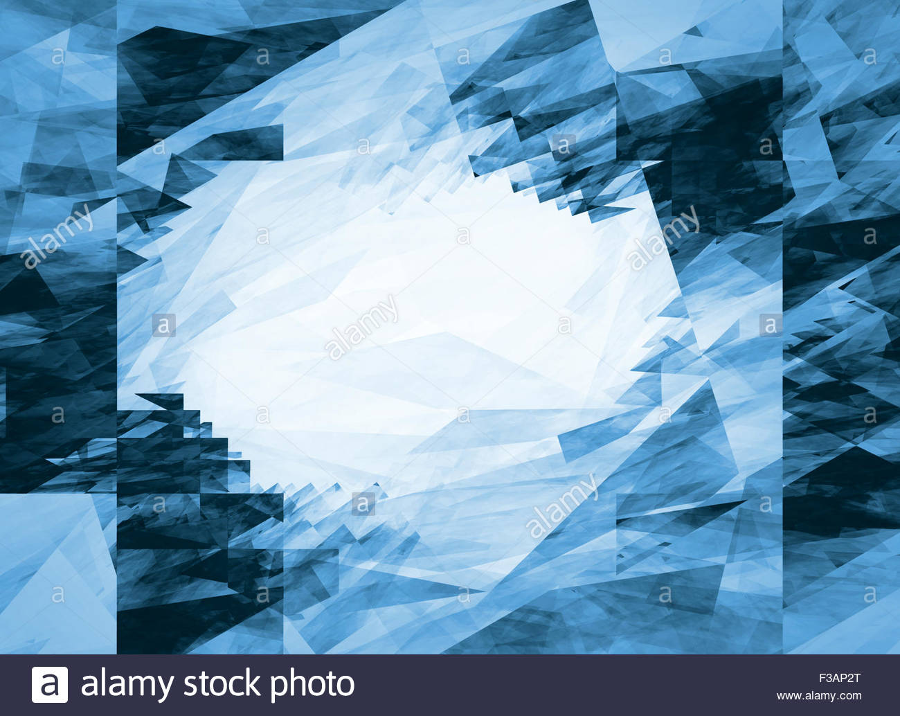 Crash pattern Abstract fractal background in the form of the blue 1300x1034