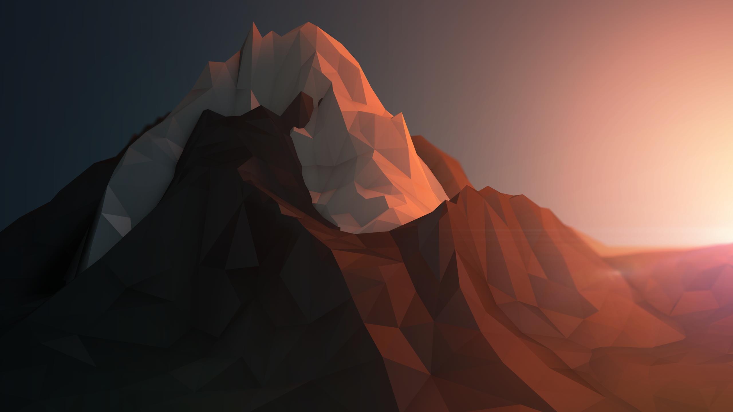 Low poly mountains wallpaper low polygons geometric wallpaper 2560x1440