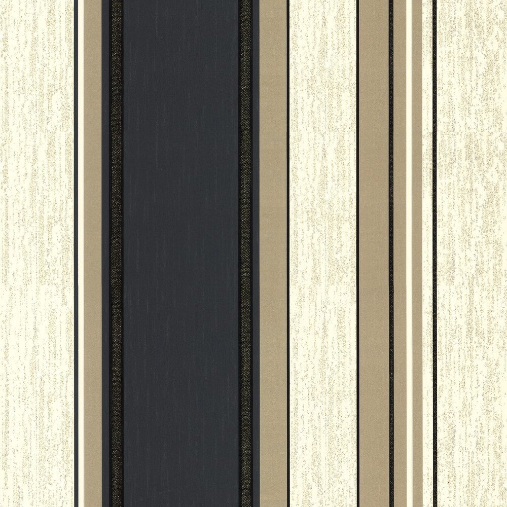 Wallpaper Vymura Vymura Synergy Striped Wallpaper Cream Gold 1000x1000