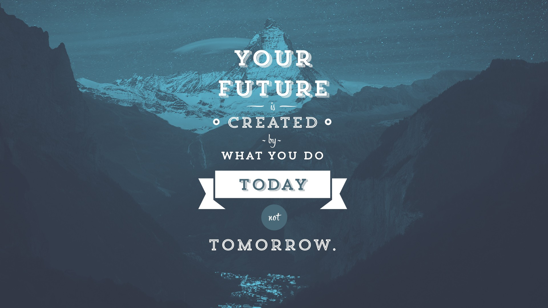 Motivational Wallpaper on Future Your future is created by what you 1920x1080