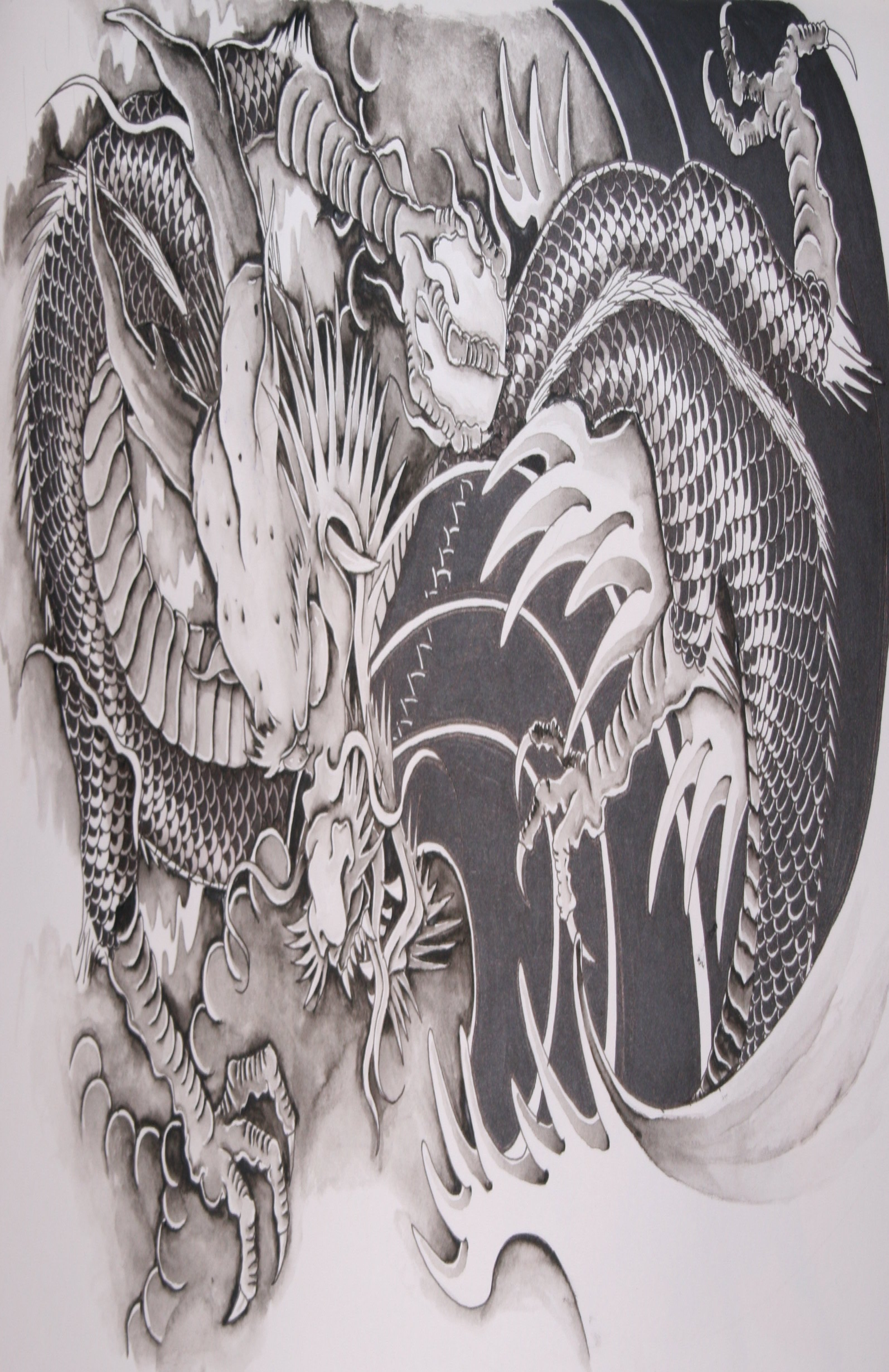 Chinese Dragon Tattoo wallpaper 82665 2067x3189