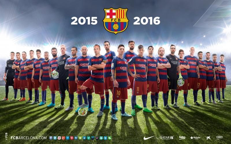 Name FC Barcelona Squad 2015 16 Football Team Wallpapers 800x500