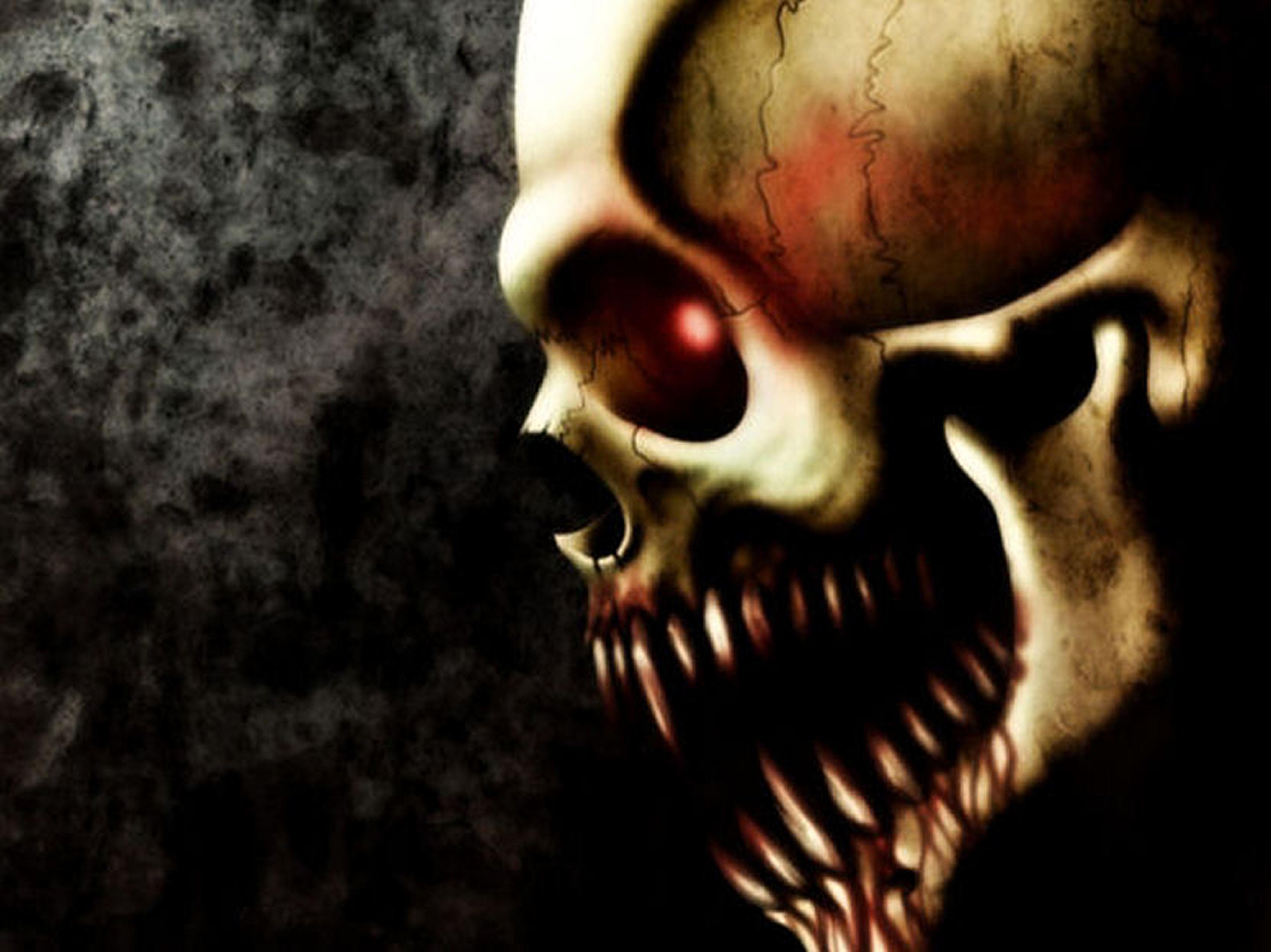 Scary skulls wallpaper wallpapersafari - Scary skull backgrounds ...
