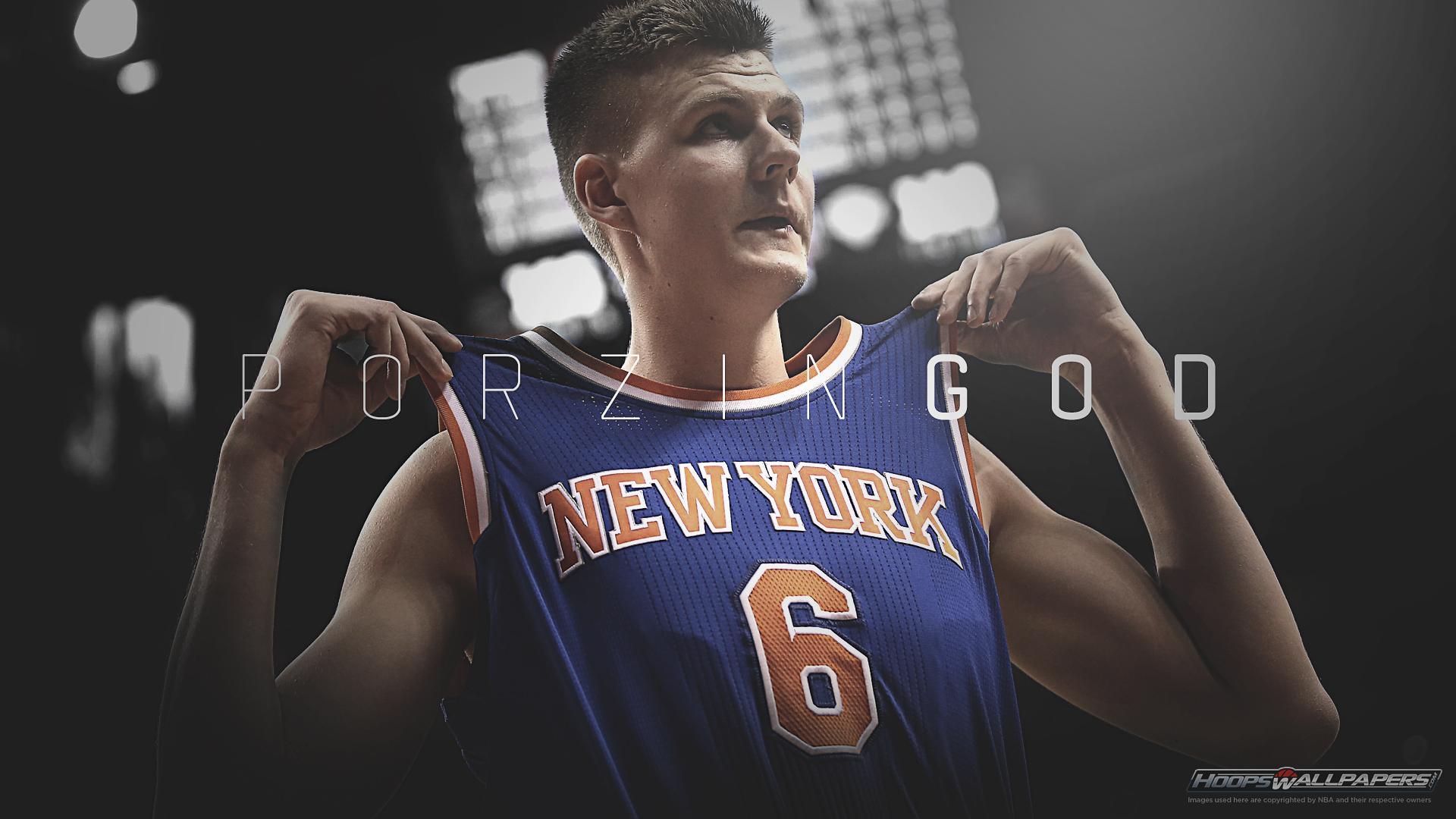 Kristaps Porzingis Knicks Wallpaper on