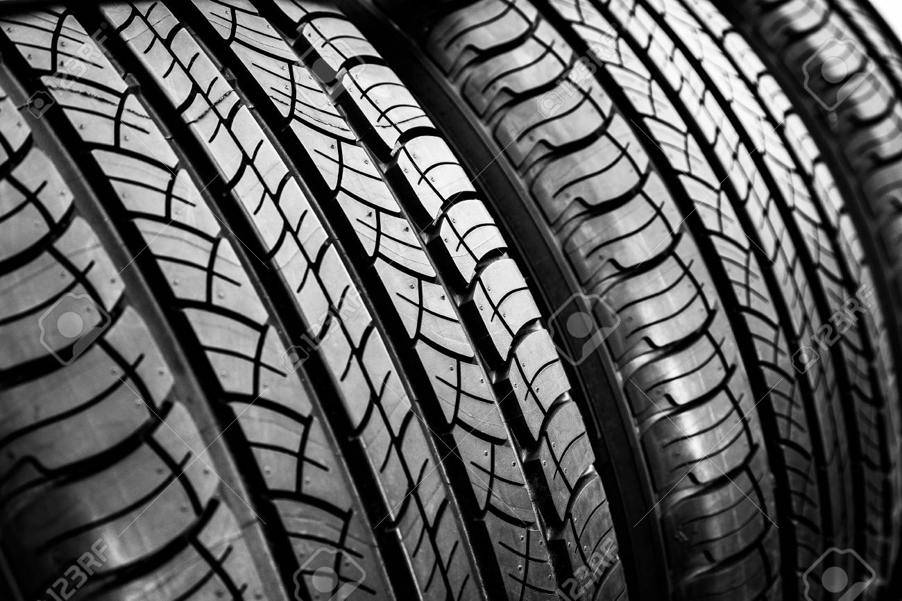 TireCar Tire BackgroundTyre Texture Closeup Background Stock 1300x866