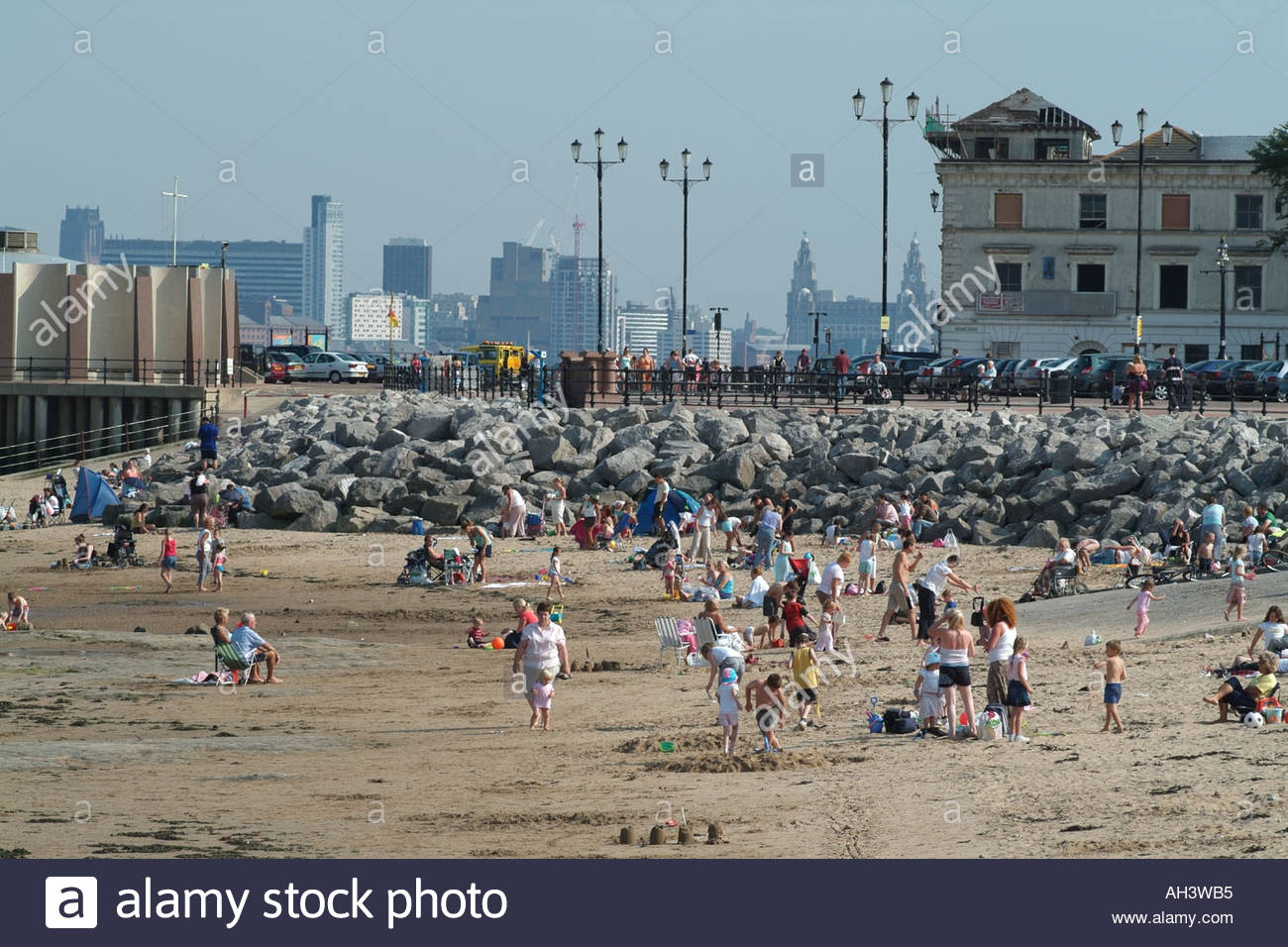 New Brighton beach Merseyside northern England background of Stock 1300x956