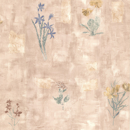 Bath Resource III Twain Terracotta Wildflower Wallpaper   Walmartcom 500x500