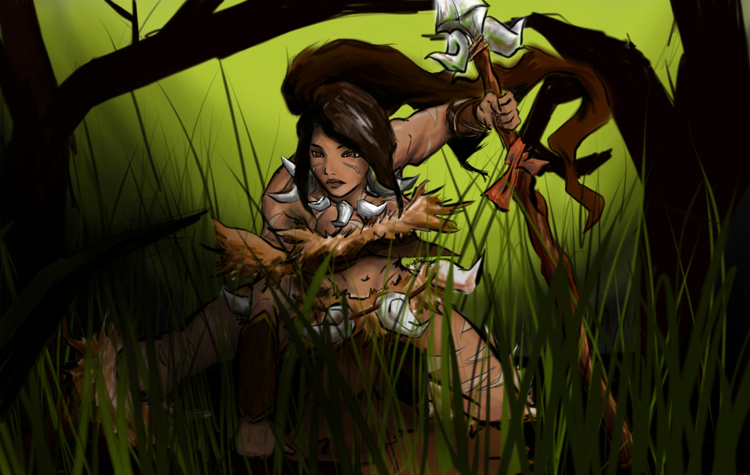 League of Legend Nidalee Wallpaper 3000x1900