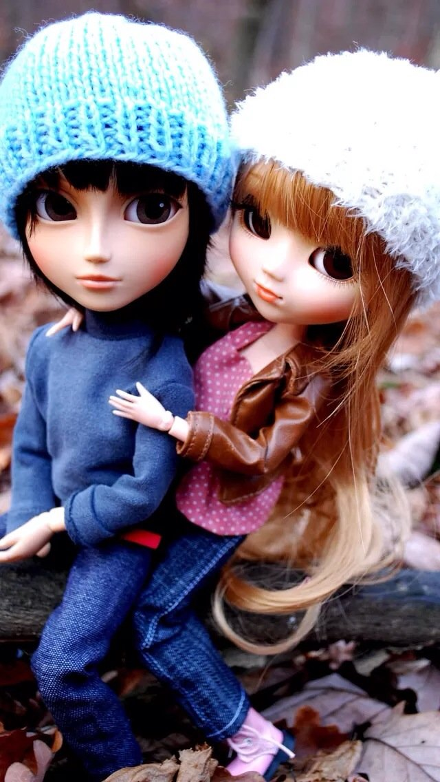 Couple Doll IPhone 5s Wallpaper Download Wallpapers IPad 640x1136