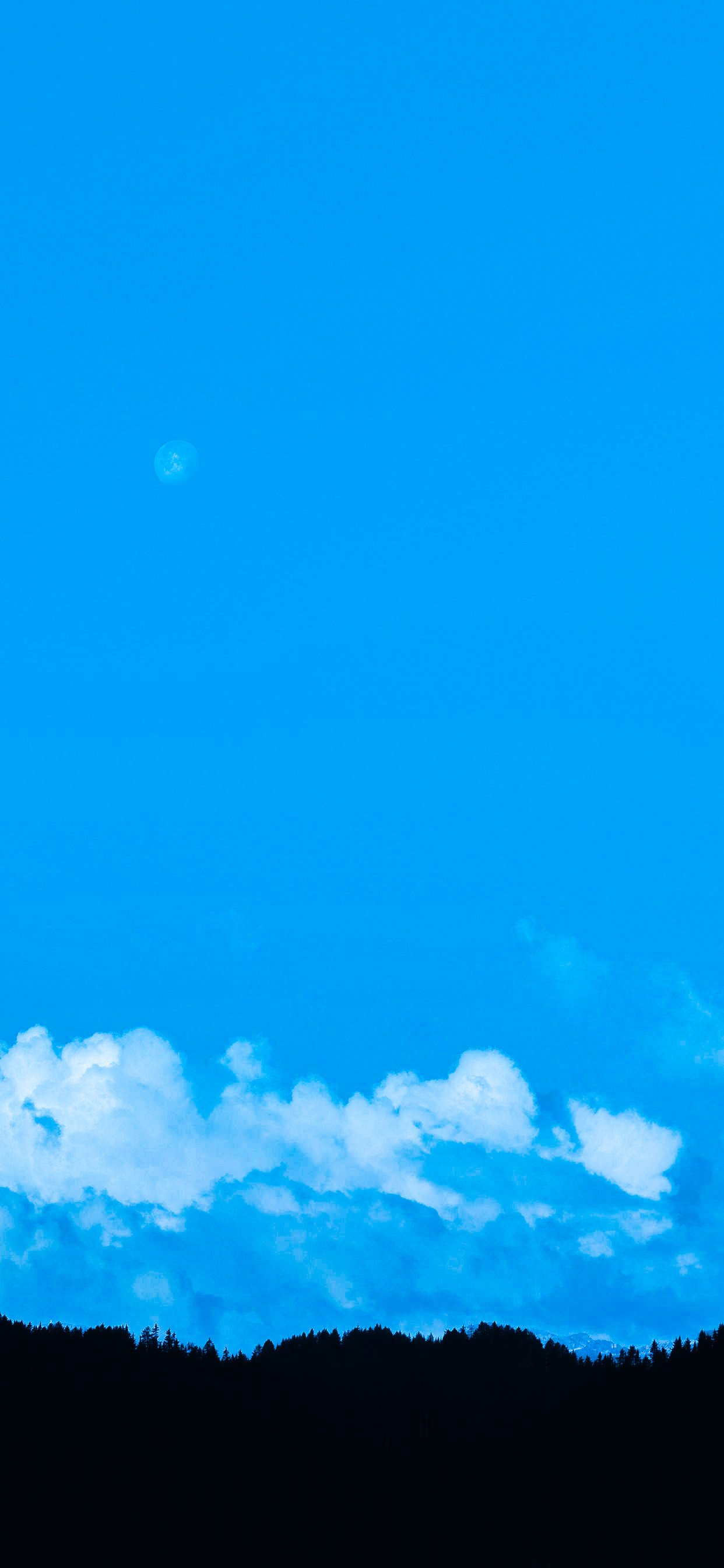 iPhone 12 Blue Original Wallpaper 1242x2688