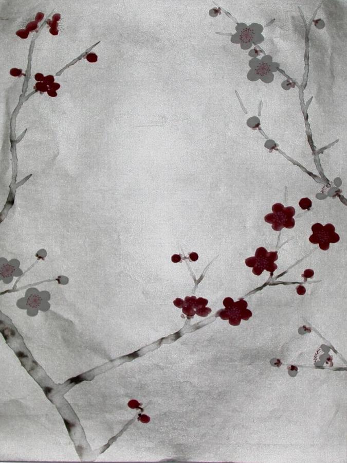 China Hand Painted Wallpaper CHINOISERIE 17   China Wallpaper Hand 675x900