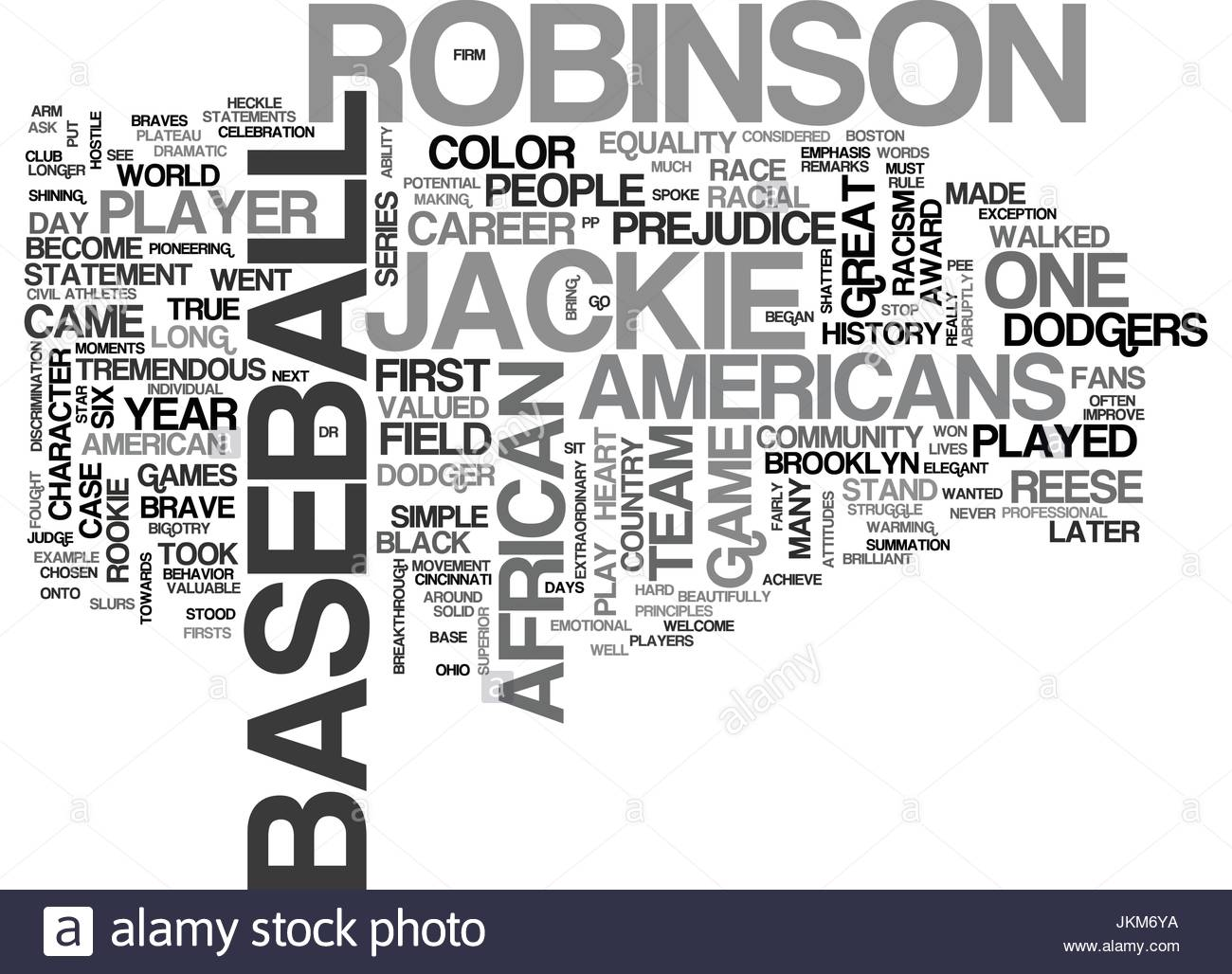 JACKIE ROBINSON Text Background Word Cloud Concept Stock Vector 1300x1028