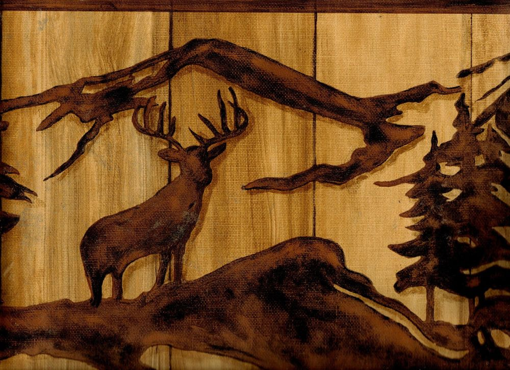 Elk and Bear Wallpaper Border WL5536B eBay 1000x727
