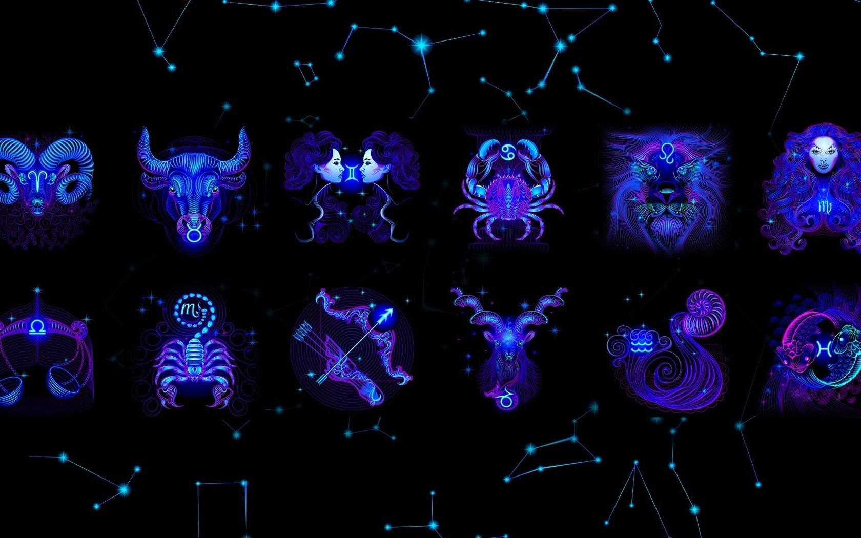 blue zodiac Capricorn Capricorn Zodiac Aries wallpaper background 1680x1050