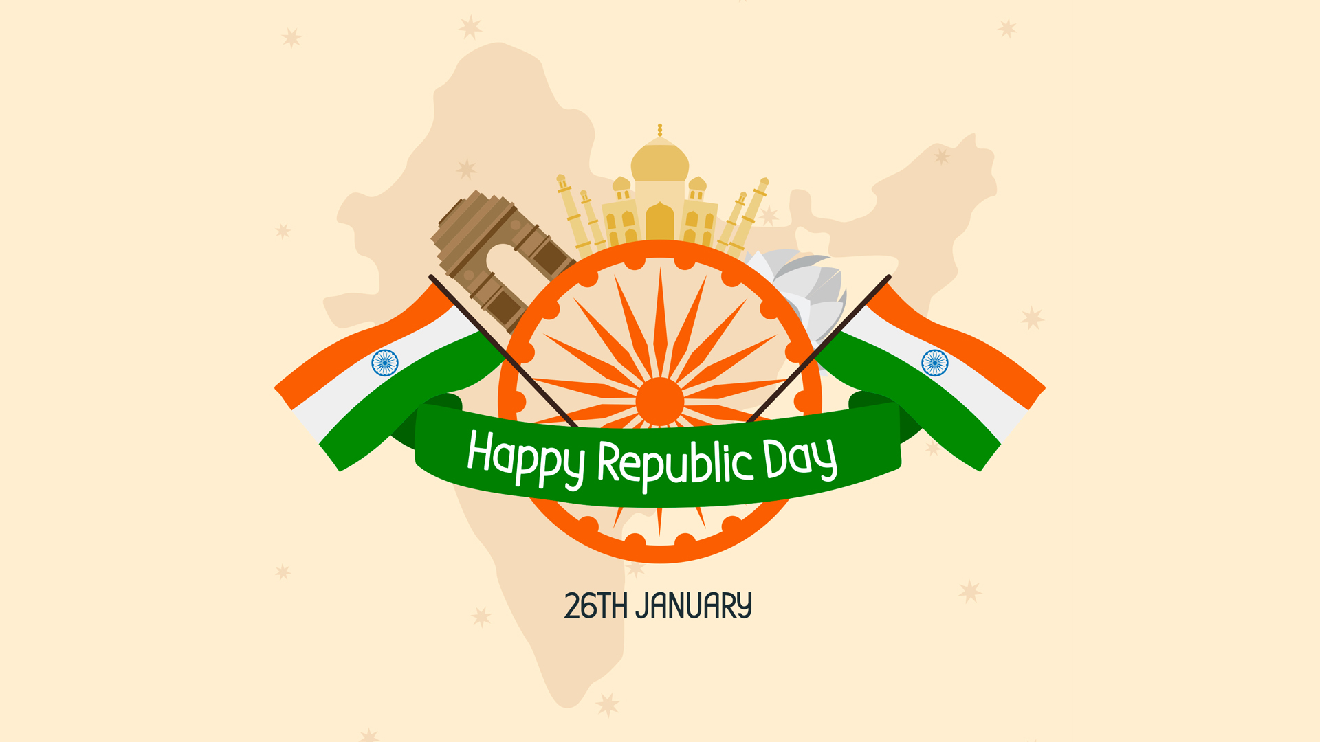 Happy Republic Day of India Wallpaper HD Wallpapers 1920x1080