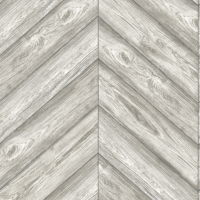 Herringbone Textured Ash Removable Wallpaper by Tempaper 800x800