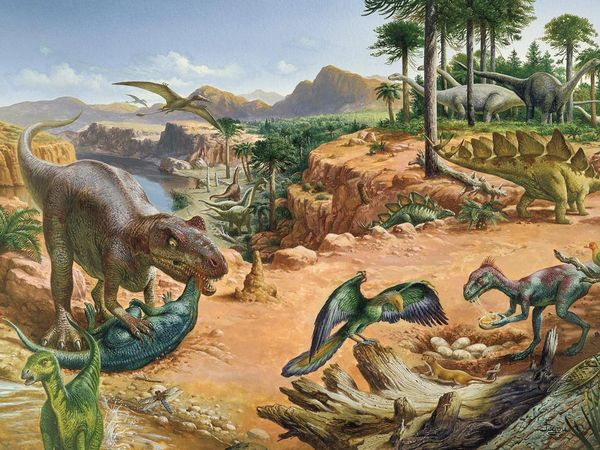 Cretaceous period plants and animals