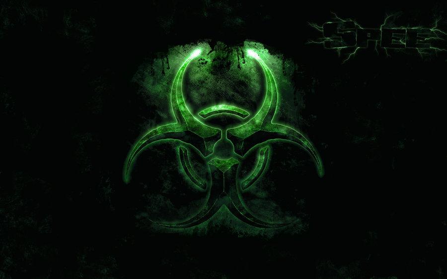 Green And Yellow Biohazard Symbol