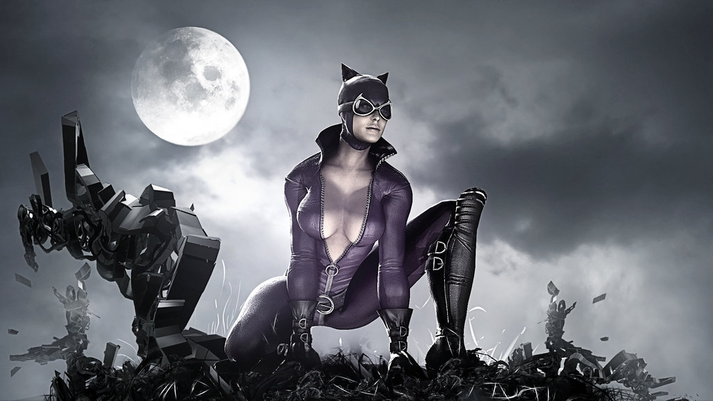 Batman Arkham City Catwoman HD Wallpaper by TheSyanArt 1024x576
