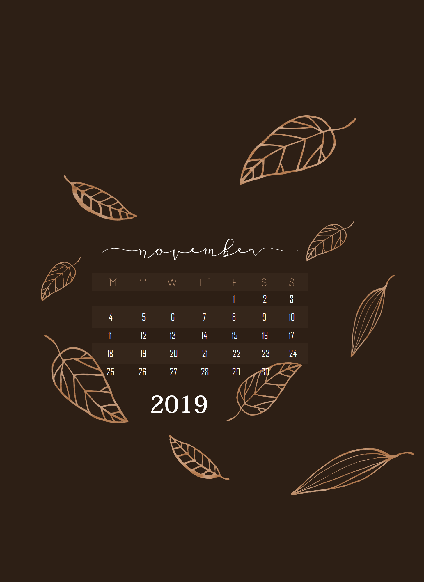 iPhone November 2019 Wallpaper Latest Calendar 1457x2000