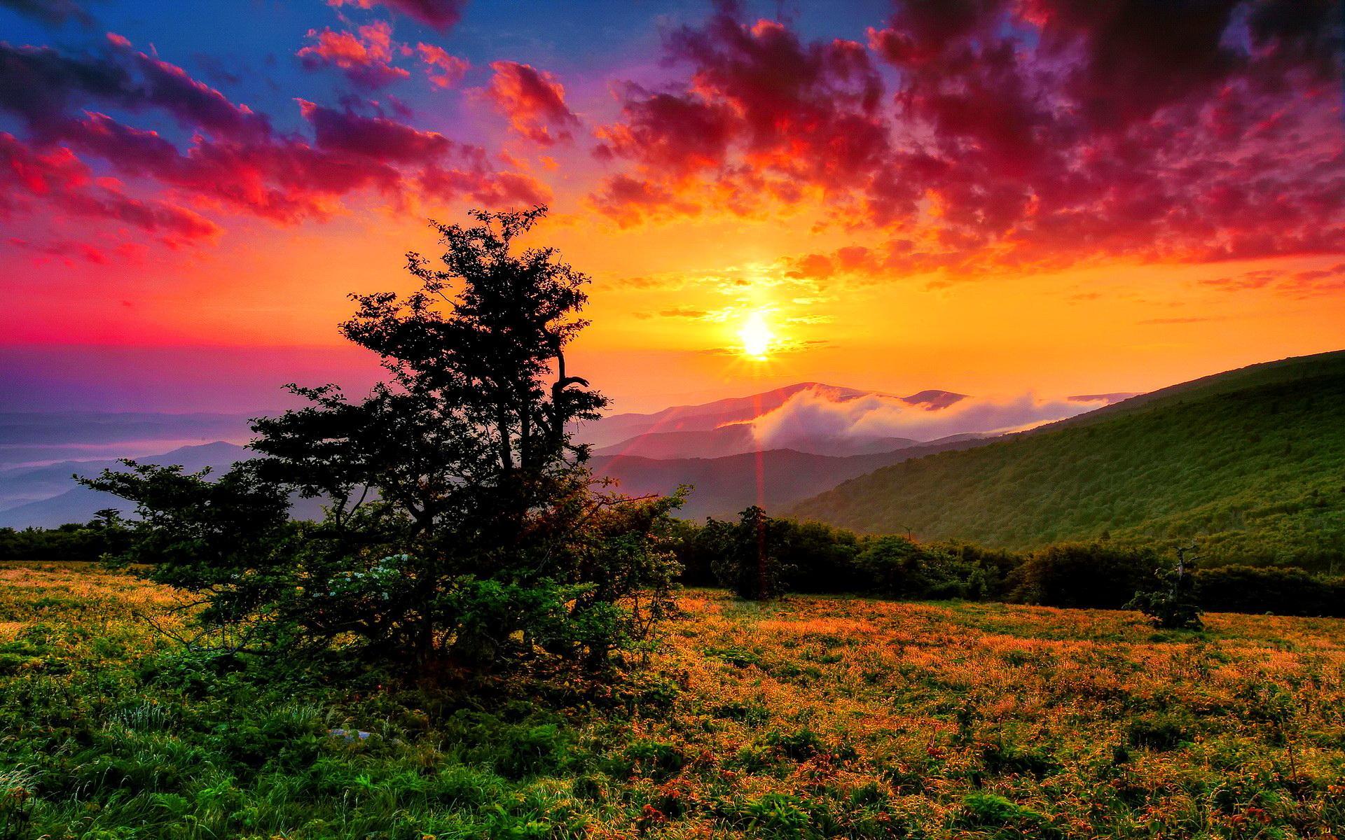 Sunrise Over Western North Carolina Hd Wallpaper Wallpaper List 1920x1200