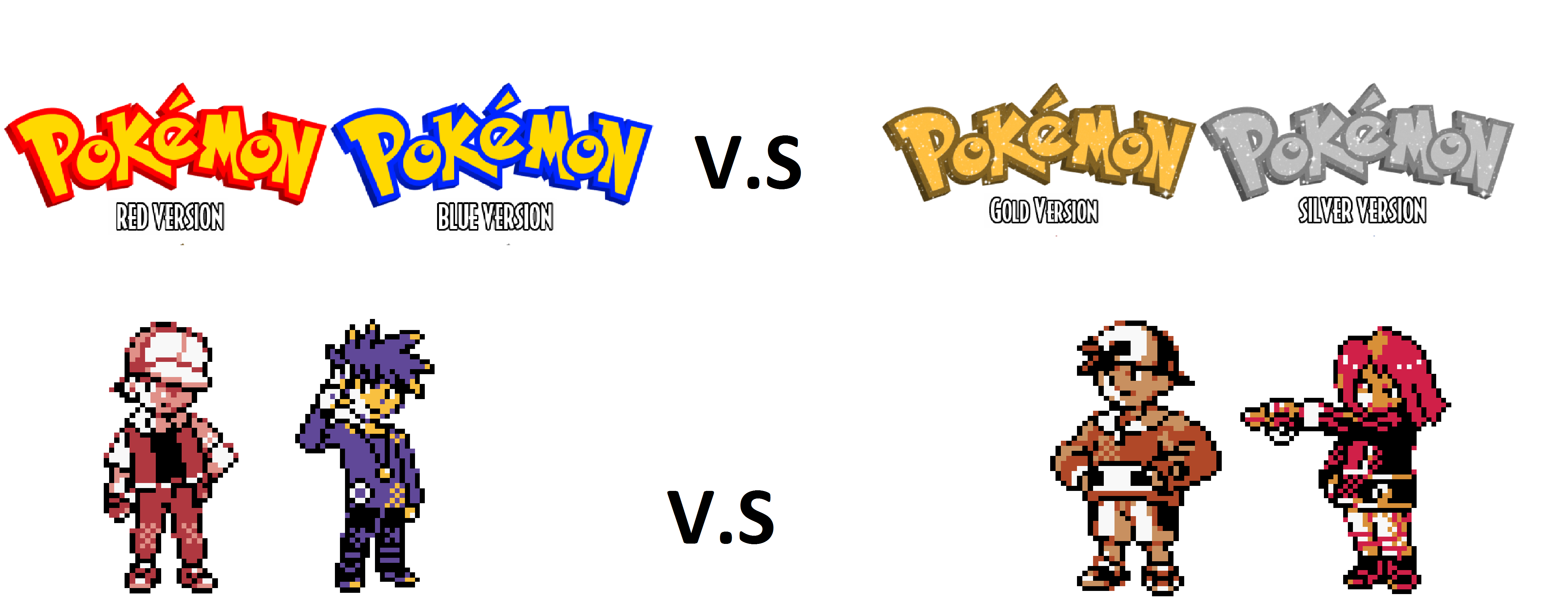 Pokemon Gold Vs Red Wallpaper Red and blue vs gold and 4972x1924