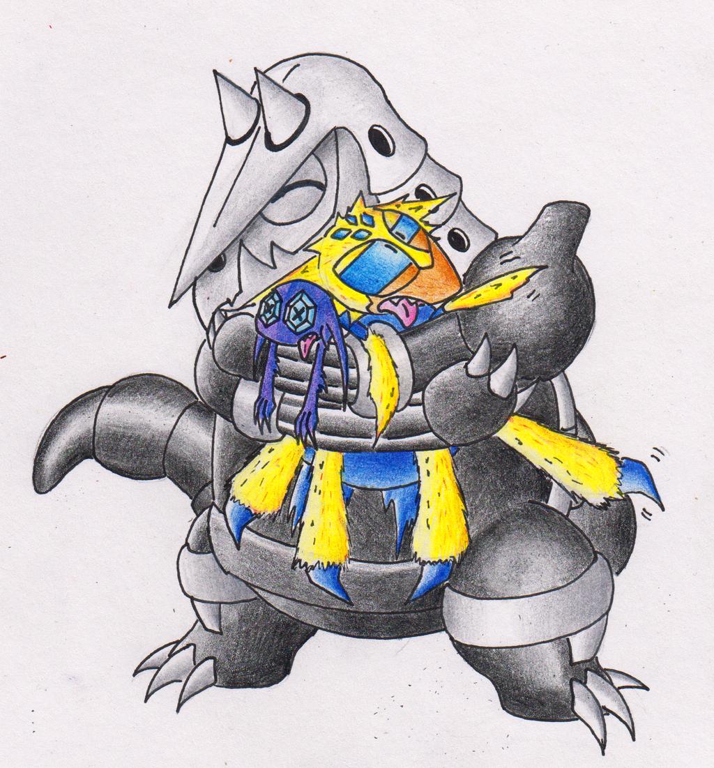 Aggron Hugs by StarSlug 1024x1101