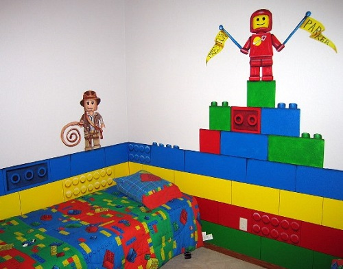 Decorate Your Kids Bedroom Walls With Lego Trying Out Toys 500x392