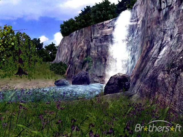 Download Live 3D Waterfall Screensaver Live 3D Waterfall 640x480