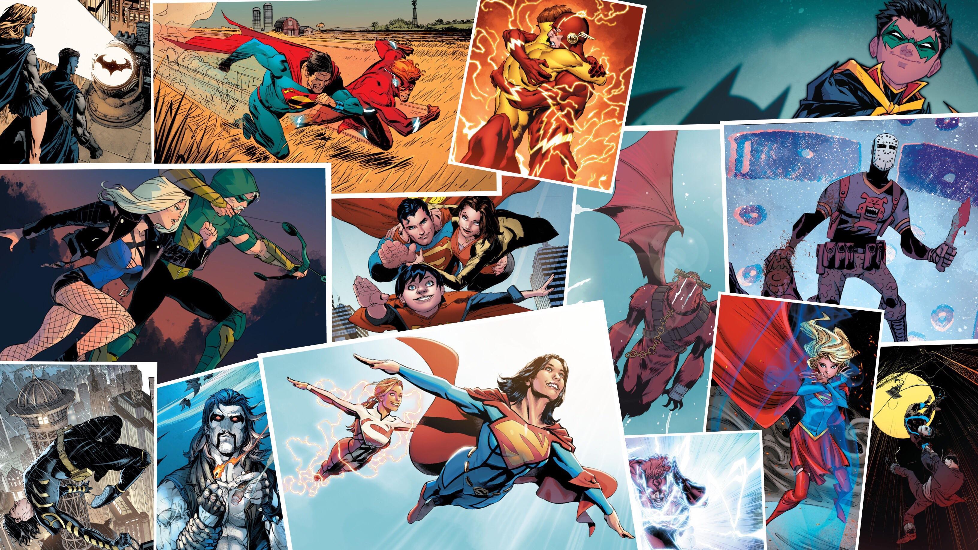 Fan Art] DC Rebirth Desktop Wallpaper IDK artist sorry DCcomics 3264x1836