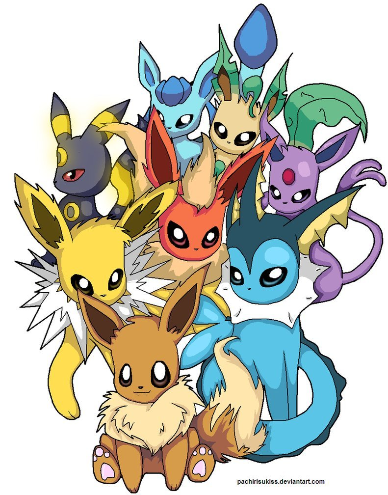 Cute Eevee Evolutions Wallpaper Wallpapersafari