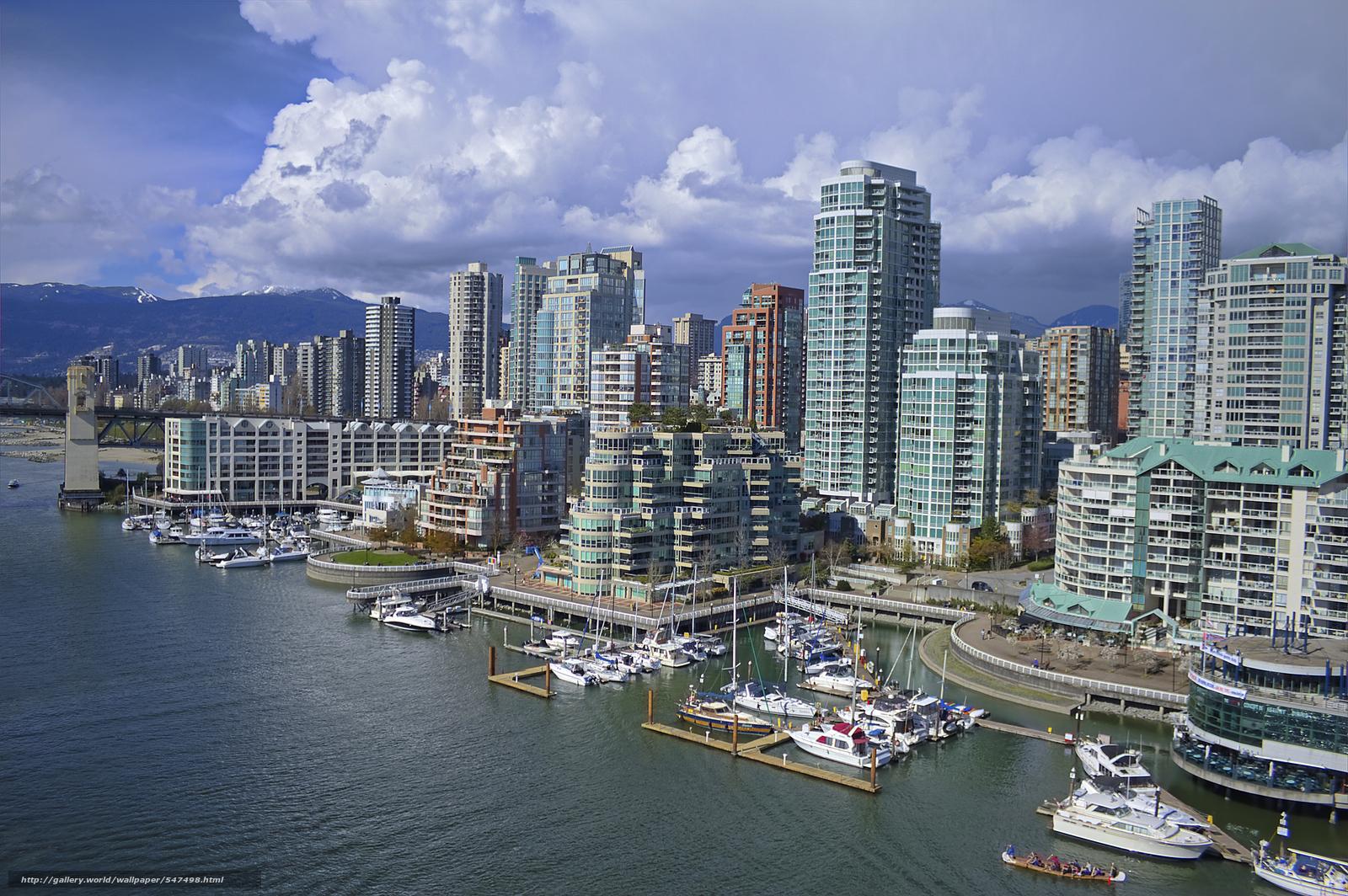 Download wallpaper Vancouver Columbia Canada desktop wallpaper 1600x1064