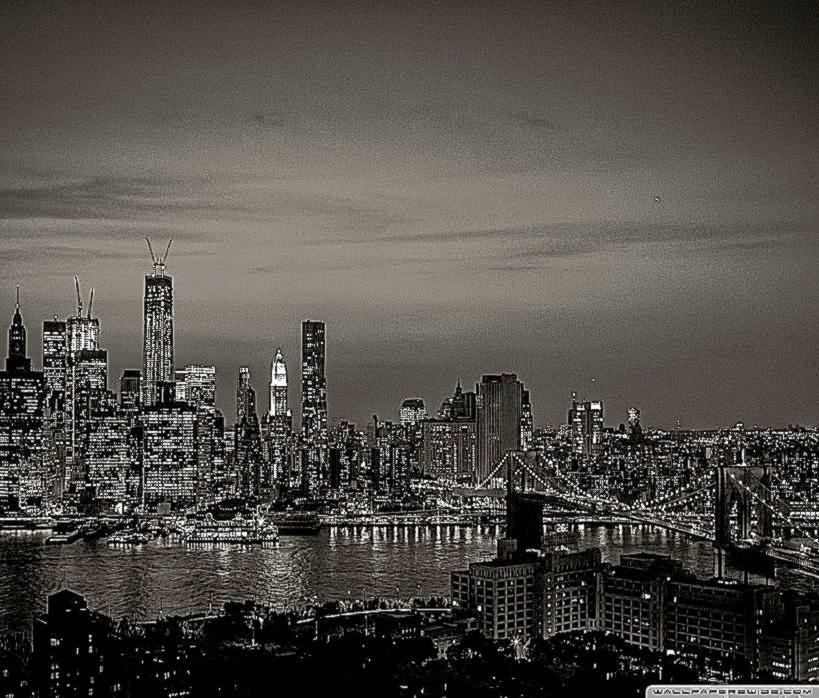 New York City Black And White Background Wallpaper Wallpaper 819x698
