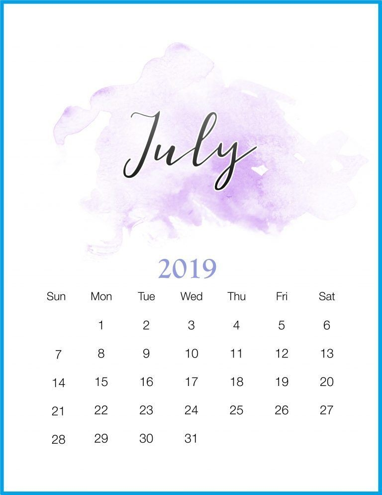 July 2019 Calendar Wallpaper wed easecom 768x994
