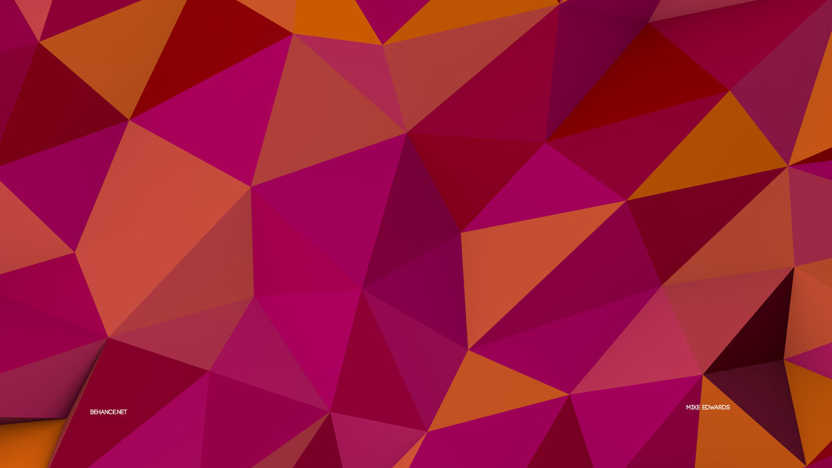 Low Poly Wallpaper 8K Pink by Mike Edwards 1191x670