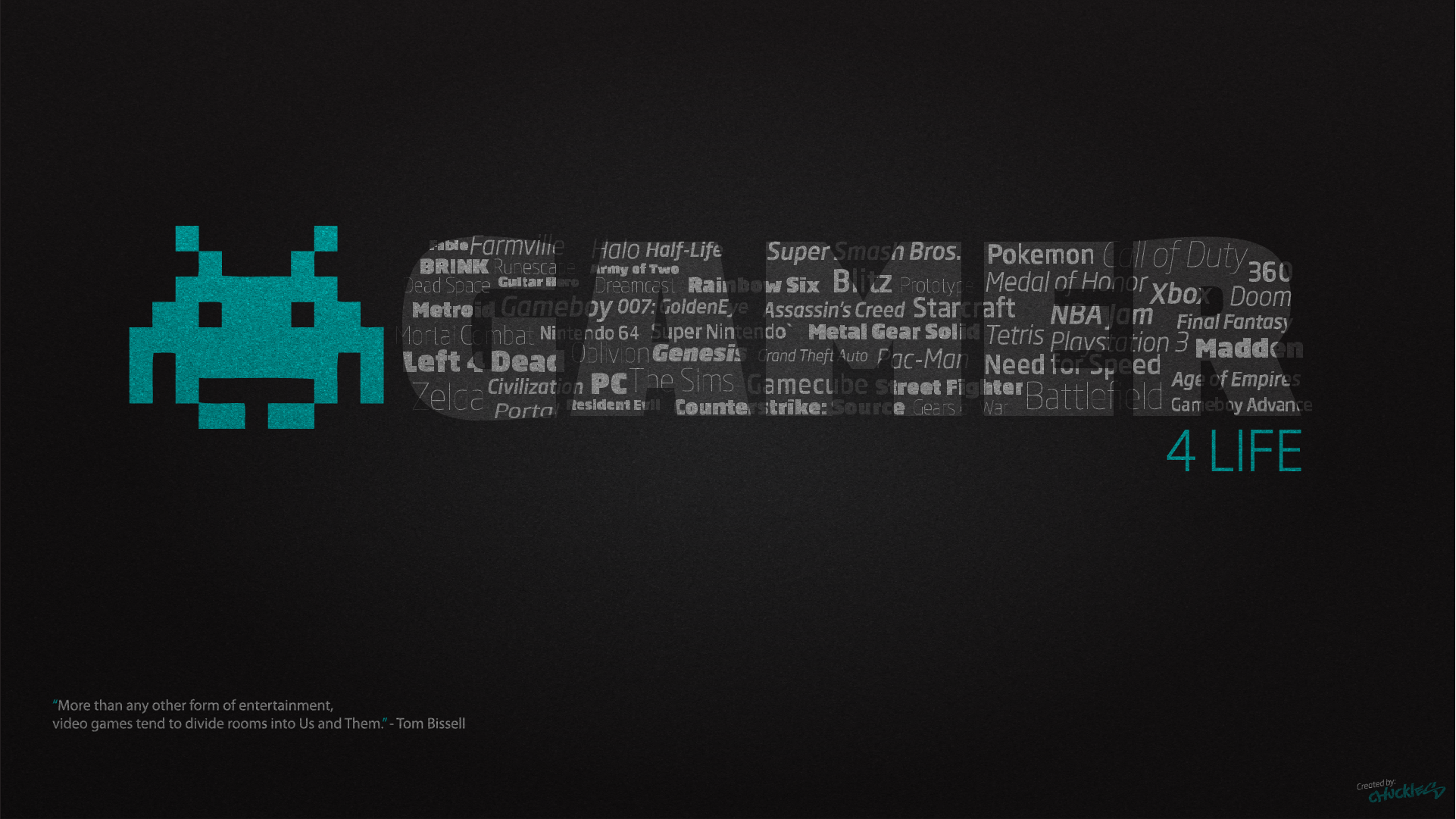 Gamer for Life Desktop Wallpaper 1920x1080 by ChucklesMedia on 1922x1081