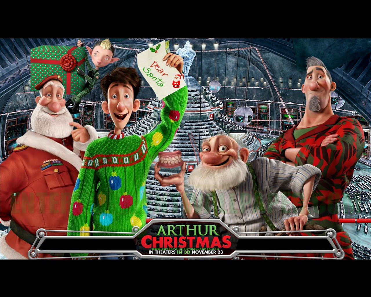Best 46 Arthur Christmas Wallpaper on HipWallpaper Christmas 1280x1024