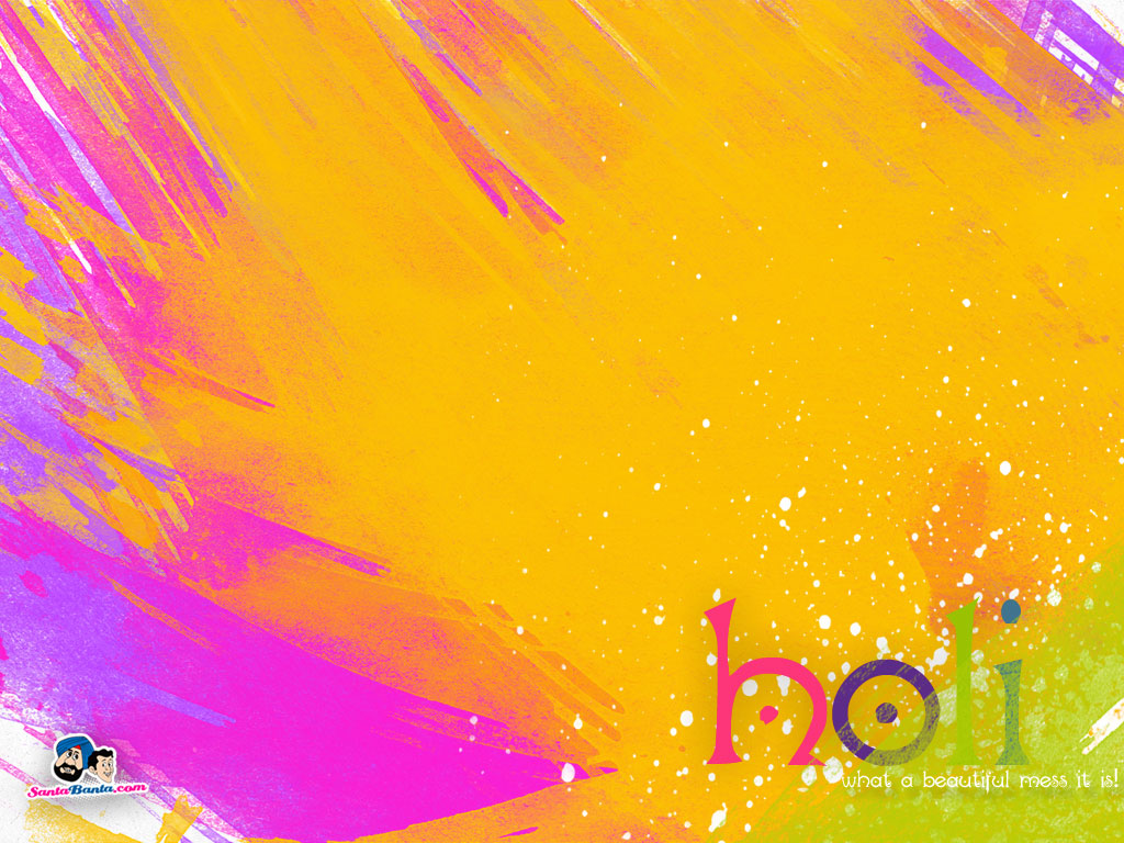 25 Colorful Holi Wallpapers 1024x768