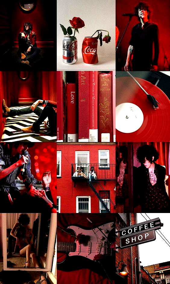 Red aesthetic wallpaper with Laura Pergolizzi Aesthetic 564x940