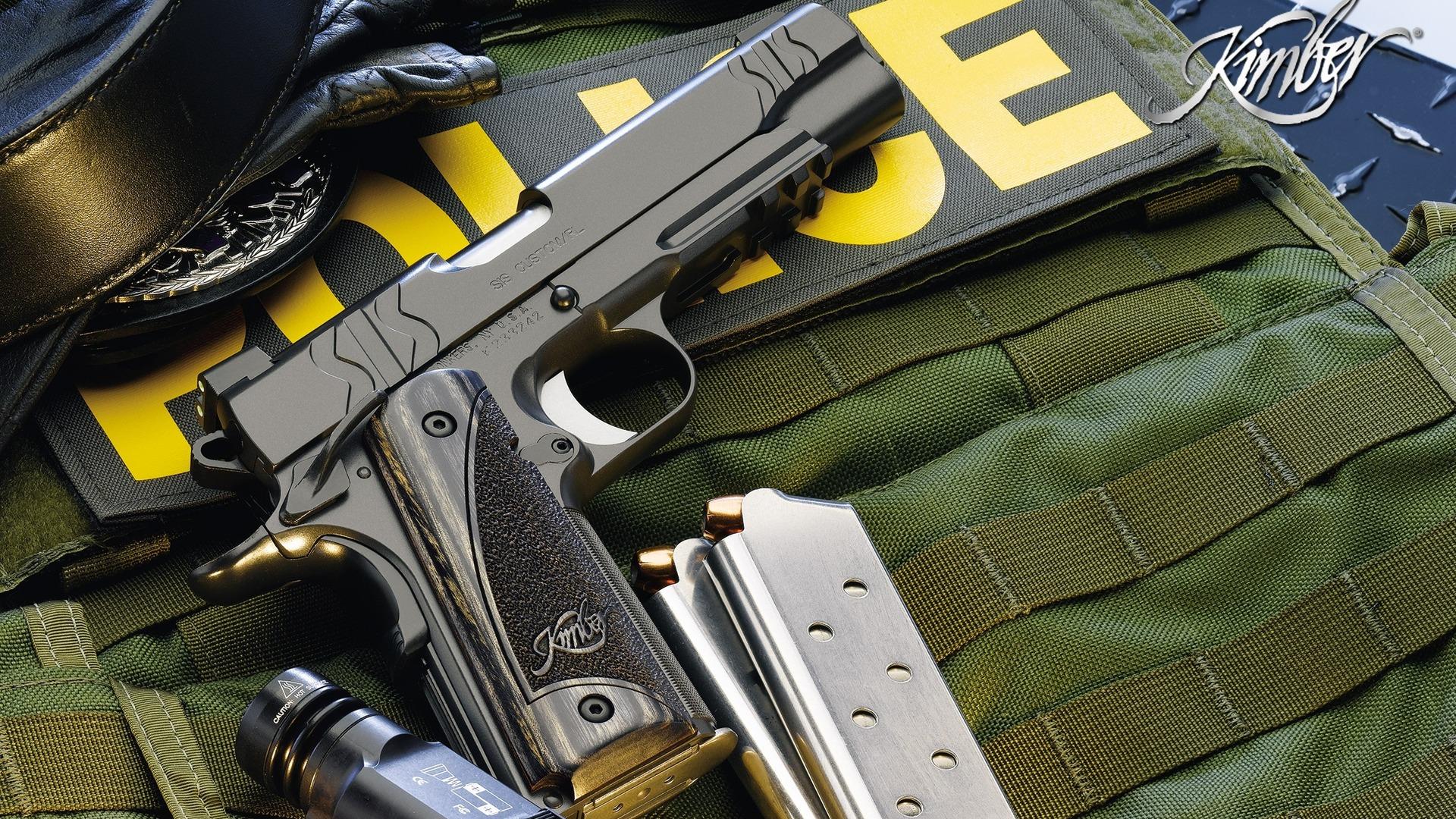 Kimber close up green gun kimber military police swat 1920x1080