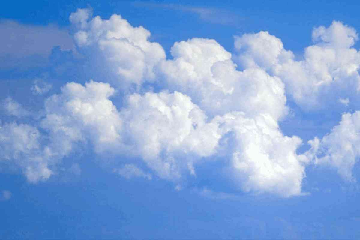 Blue Sky With Clouds Background Image Wallpaper or Texture for 1200x800