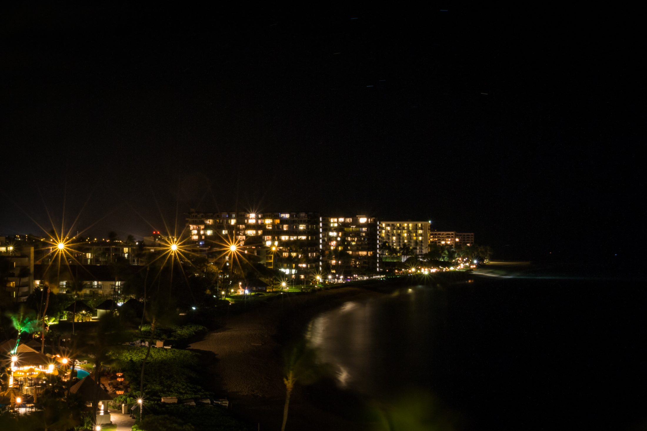 HD Wallpaper Night falls over Kaanapali Beach in Maui Hawaii 2200x1466