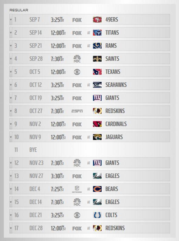 Tags Cowboys 2014 NFL Schedule Dallas Cowboys Regular Season Schedule 590x796