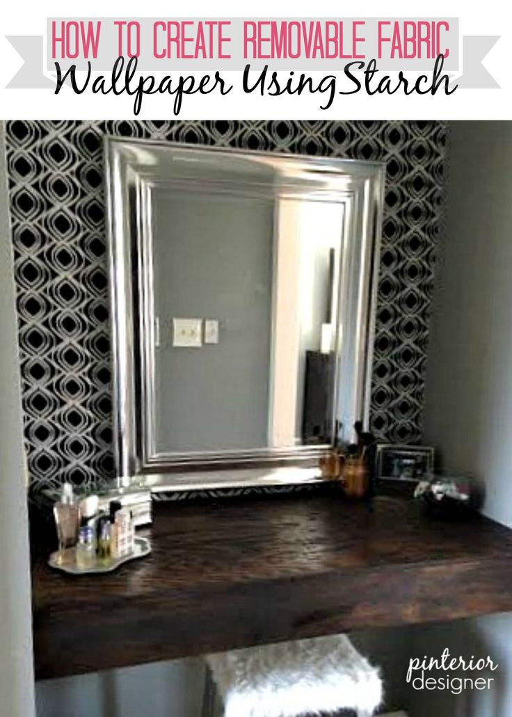 patterns How to create a removable fabric wallpaper using starch 736x1030