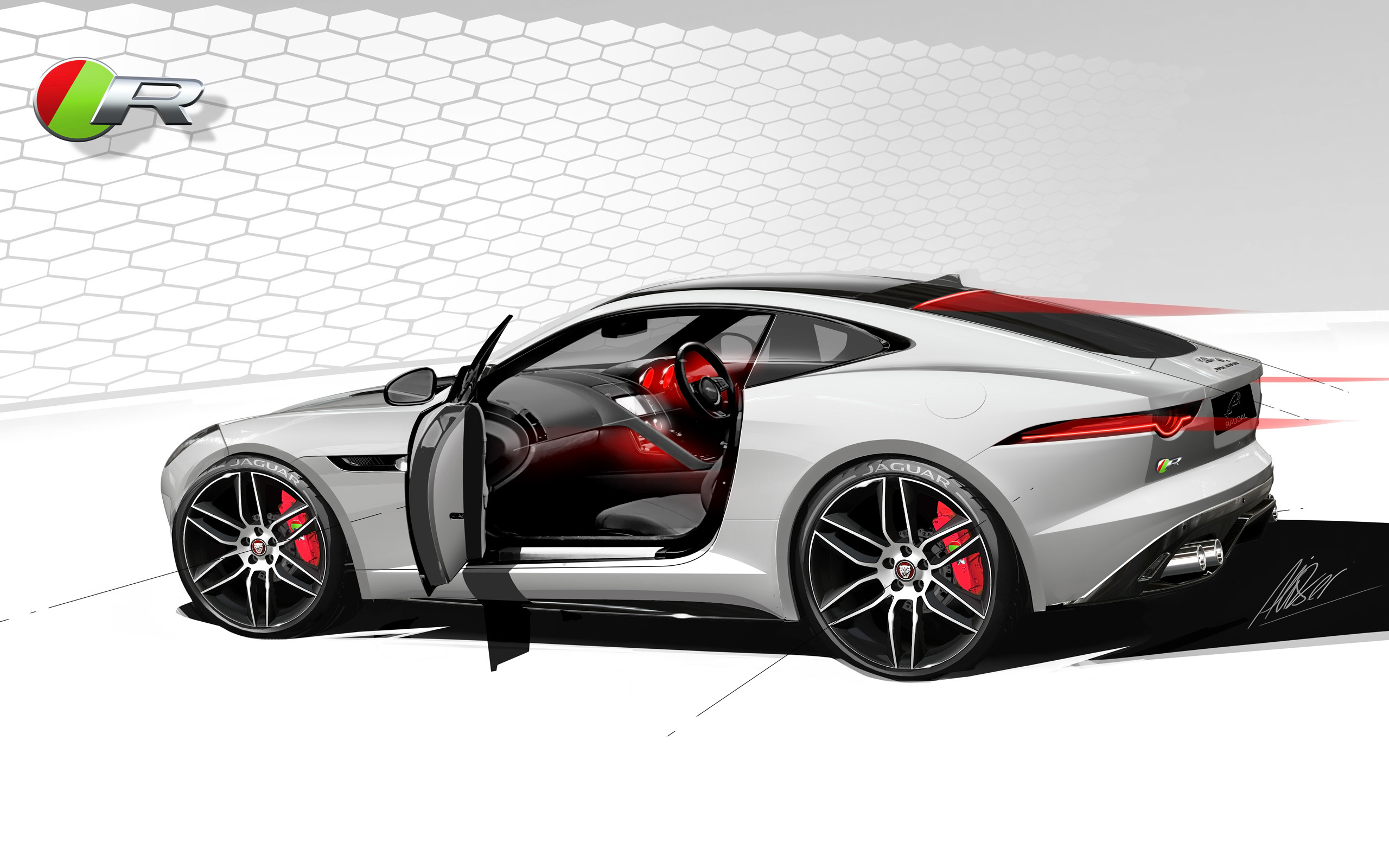 2014 Jaguar F Type R Coupe f wallpaper background 2560x1600