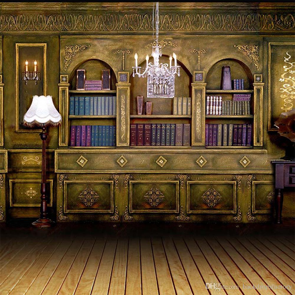 2019 Indoor Room Bookshelf Backdrop Photography Bookcase Floor 1000x1000