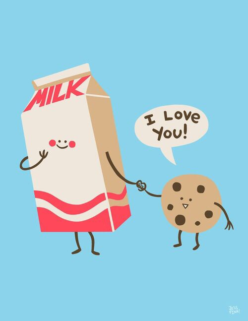 Free Download Cookie And Milk Iphone Wallpapers Pinterest 500x647