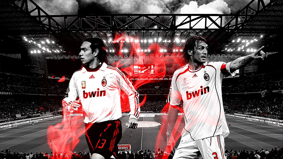 Footy Wallpapers on Twitter Alessandro Nesta and Paolo Maldini 1200x675
