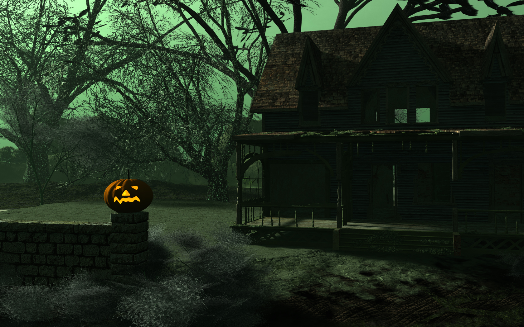 haunted house hd wallpaper With Resolutions 16801050 Pixel 1680x1050