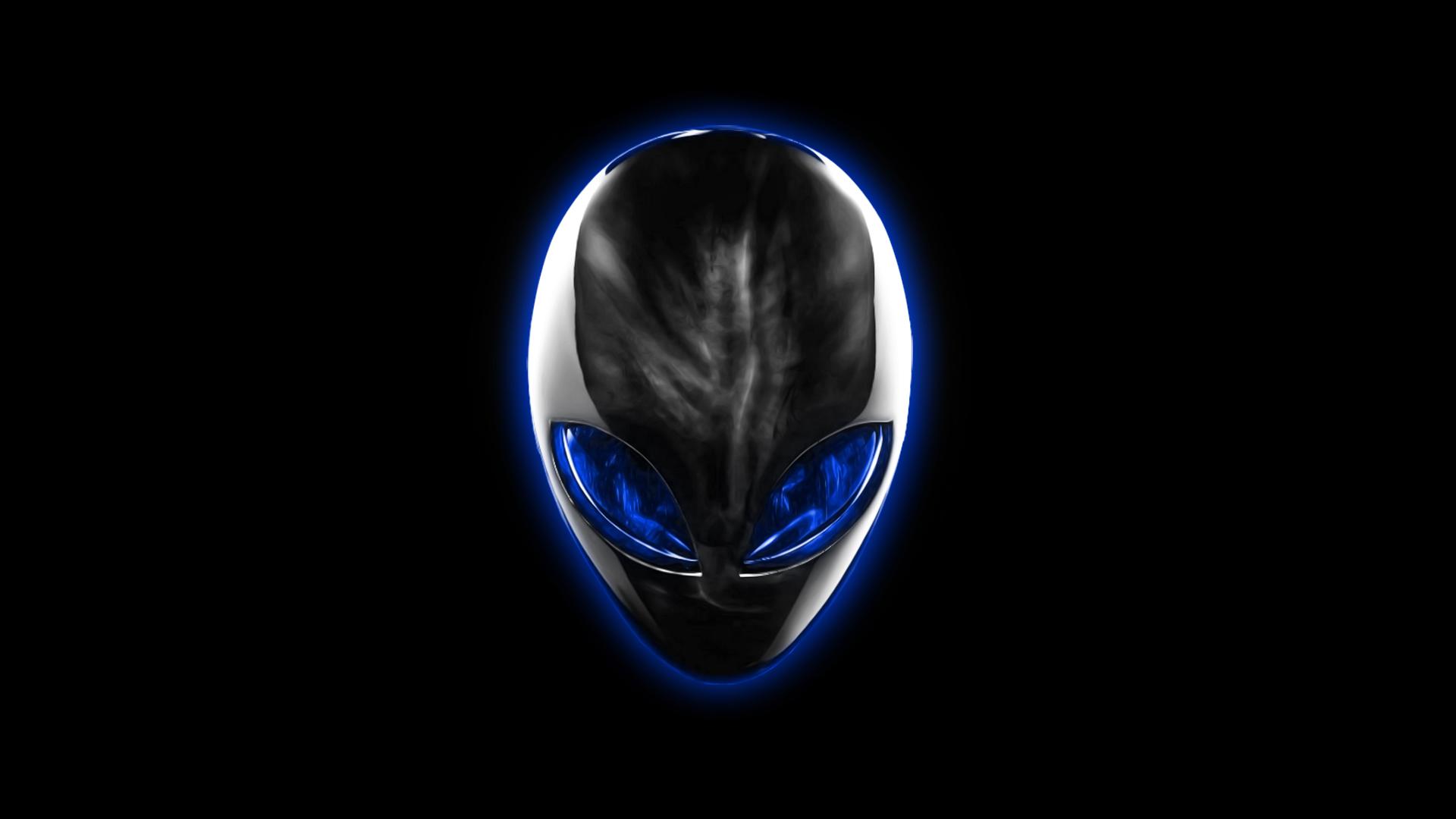alienware logo blue eyes black backrground hd 1920x1080 1080p 1920x1080